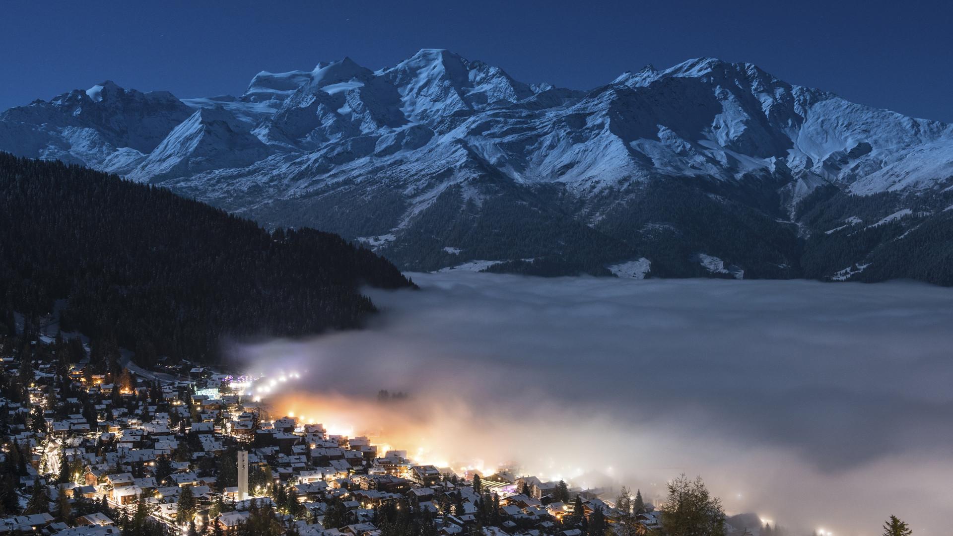 Night inversion, Verbier, CH